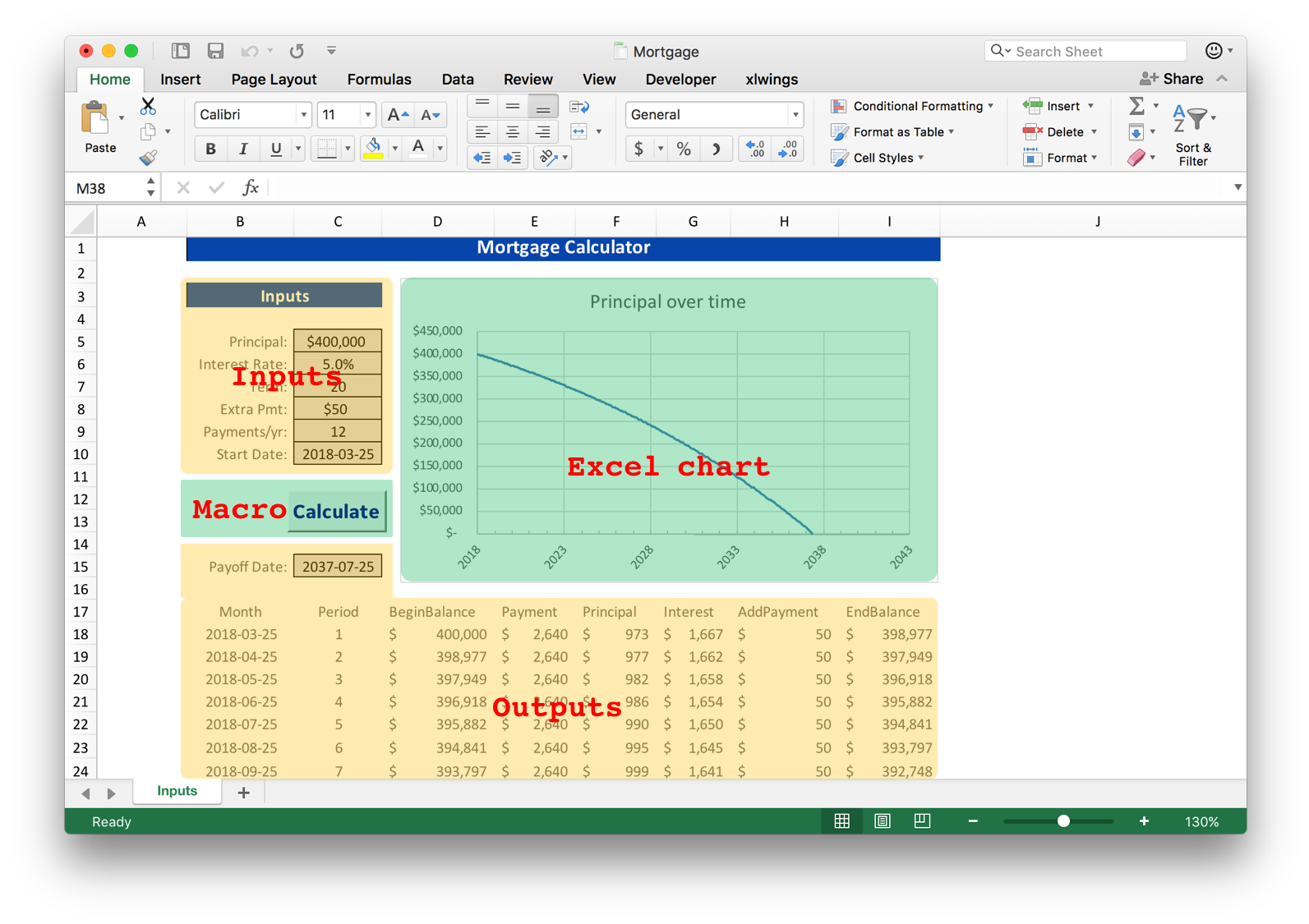 Workbooks workbook python : xlwings: Use Python and Excel to Calculate Your Mortgage | Matthew ...