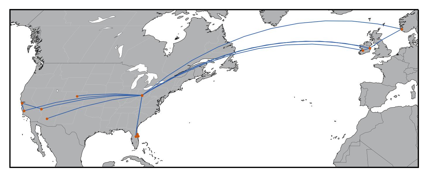 Travel Map With Cartopy | Matthew Kudija
