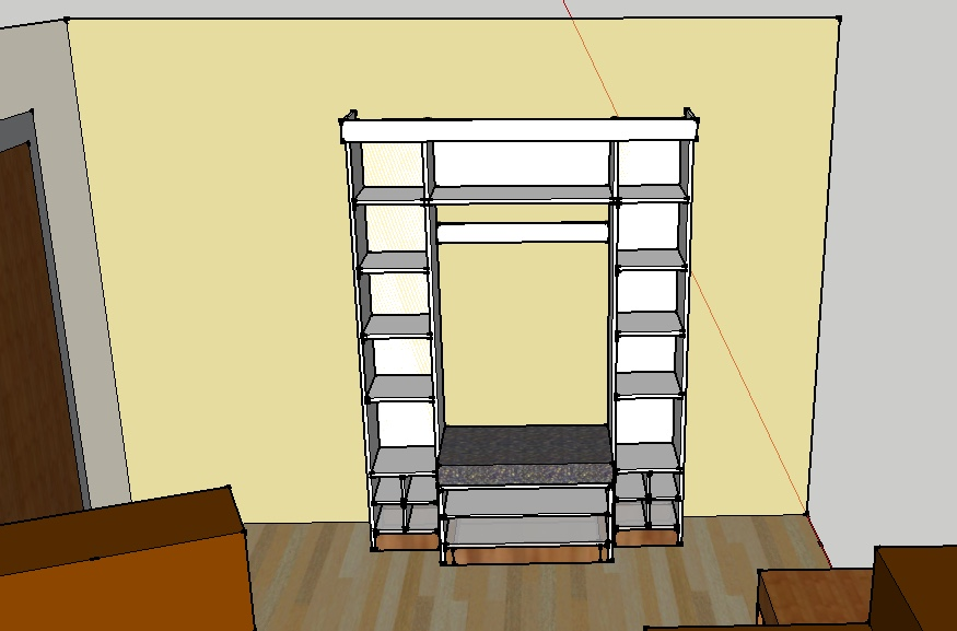 Bookshelf And Make Sure It Would Look Appropriate In The Room SketchUp Is Quick Easy Enough To Use Allow For Iteration Redesign As Required
